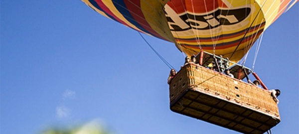 Floats silently above the trees and into a world where silence is priceless while enjoying the sunrise over Punta Cana.